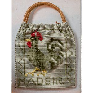 Cute Woven Madeira Tote with Wicker Handles